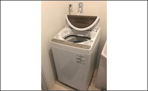 取り付け済みの洗濯機の写真