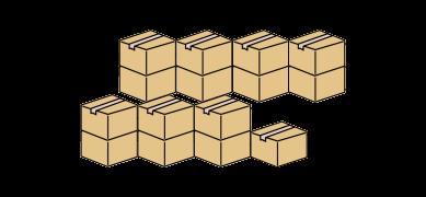 積載可能なダンボール箱の個数のイメージ